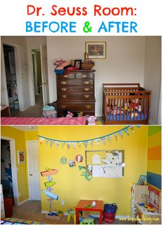Dr Seuss Bedroom - Before After Play Kitchen Area