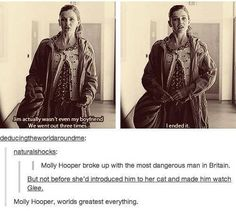 Molly Hooper wins everything. Dumps Moriarty, makes Sherlock apologize. BAMF.