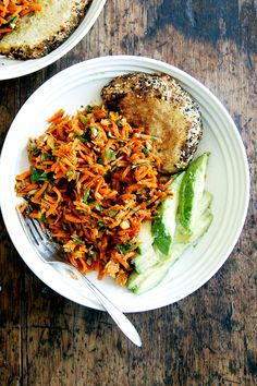 Moroccan Carrot Salad with Harissa and Avocado - Alexandra's Kitchen