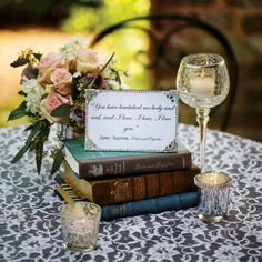 Close up of guest book table decorations  Love Story: Jenna and Rodderick in Adairsville, GA