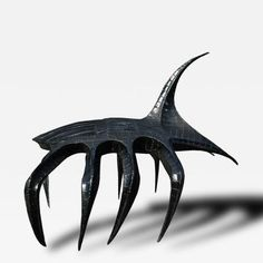 Giant Brutalist Metal Sculpture of A Spider Hybrid offered by Cain Modern on InCollect Brutalist Design, Decorative Objects, Futuristic, Art Decor, Spider, Sculpture, Metal, Artist, Spiders