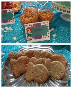 Goldfish Sandwiches for Mermaid Party