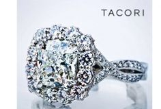 Dream Ring!  Tacori engagement ring.  Custom variation combines two styles:  2565RD9 and 552CU.