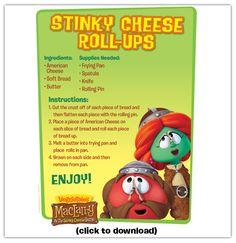 Stinky Cheese Roll-Ups #recipe