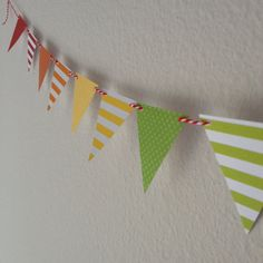 Mini Rainbow Banner // Rainbow Paper Bunting // by PartyHappier