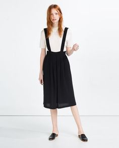 Zara - Pleated strappy pinafore dress