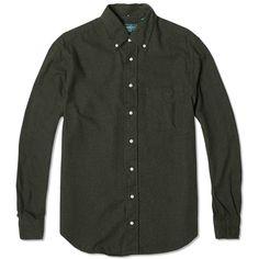 b6dcc0e8cf6 Gitman Vintage Portuguese Flannel Shirt (Loden)