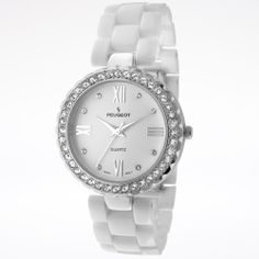 Ceramic and Swarovski Crystal Watch - White & Silver   $60.00 $295.00 retail price  80% Off!That's a savings of $235.00!