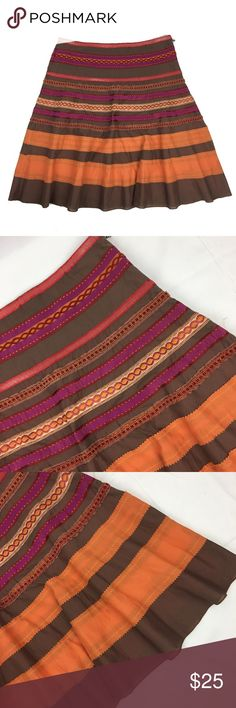 The Limited patch work skirt Excellent condition. Like new. Size 8. Zipper on side. Lined. The Limited Skirts