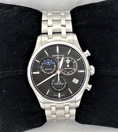 CERTINA DS-8 Chronograph Mondphase ID: A1502-5 - AV-Pfandhaus Shop Ds, Chronograph, Rolex Watches, Bracelet Watch, Michael Kors, Bracelets, Gold, Accessories, Shopping