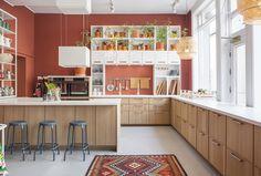 Rustikk kjøkken i ask