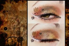 Steam punk eye makeup but with stars