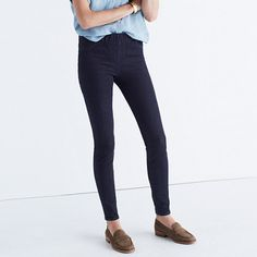 Sleek, stretchy pull-on jeans designed to wear, well, absolutely anywhere. Using the very latest in denim technology, they combine a supersoft feel with an all-way stretch that won't lose its holds-you-in magic after a day running errands. Pop on with sneakers or boots (at less than $100, you may want more than one pair).  <ul><li>Premium 77% cotton/18% poly/5% elastane Turkish denim.</li><li>A saturated indigo rinse.</li><li>Wide elastic waistband, tonal stitching.</li><li>Sits at hip…