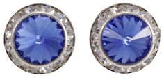 University of Kentucky Baby Crystal Blue Post Earrings | Zokee