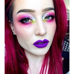Eyebrow inspiration from @carmeytron - her latest eyebrow video is my favorite! Used @anastasiabeverlyhills Dip Brow in Blonde and Chocolate, @urbandecaycosmetics Electric palette on my eyes, @prettyzombiecosmetics Purple Poison on the lips.