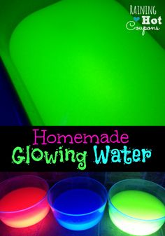 Homemade glowing water- GREAT FOR HALLOWEEN!