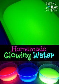 Homemade Glowing Water --> http://www.raininghotcoupons.com/homemade-glowing-water/