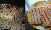 Бисквитена черга с мармалад и орехи