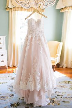 Elegant Sweetheart High Low Blush Wedding Dress with White Lace WD093,Wedding Dresses,Bridal Gown,Sweetheart Dresses