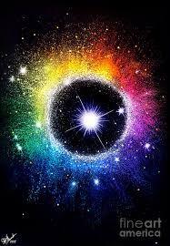 Neon Blue Galaxy Bright Stars