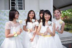kiminpink♥com: Most important day of my life  - The Bridesmaid Dresses are cute & simple.