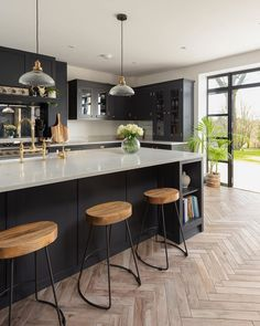 Here at The Shaker Kitchen Company, we embrace traditional design skills combine… – Kitchen World Home Decor Kitchen, Open Plan Kitchen Dining, Kitchen Plans, Interior Design Kitchen, Open Plan Kitchen Dining Living, Home Kitchens, Open Plan Kitchen Diner, Kitchen Renovation, Kitchen Design
