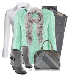"""""""Mint Sweater"""" by daiscat ❤ liked on Polyvore featuring NIC+ZOE, AG Adriano Goldschmied, H&M, Forever New, Vivienne Westwood and Kate Spade"""