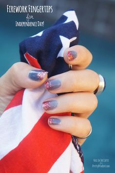Firecracker 4th of July Nails