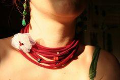 collana fatta con bottoni di stoffa - Cerca con Google
