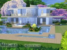 Marwan house by Guardgian at TSR via Sims 4 Updates