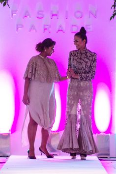Fashion Parade Presented the celebrated designer Anamika Khanna collection entail couture pieces with unique textures and detailed embellishments.