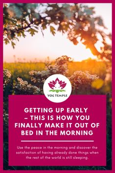10 tips on how to get up early - Yog Temple - Yoga School and Healing Centre - Austria and India - Yoga Teacher Training - Shamanism Course Routine, Yoga Courses, Yoga School, Getting Up Early, Yoga Teacher Training, Rest Of The World, Ayurveda, How To Get, Shamanism