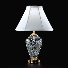 Waterford Crystal 020-465-07-00 Kilkenny 16 inch 75 watt Polished Brass Accent Lamp Portable Light
