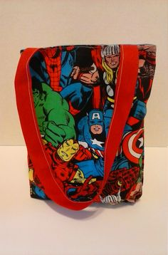 Marvel Avengers Reversable kids tote by RebeccaEdwardsQuilts