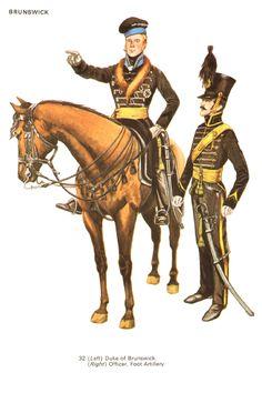 Duke of Brunswick and officer, Brunswick artillery.