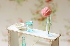 Dollhouse Miniatures, Miniature Food Jewelry, Craft Classes: Dollhouse Miniature Accessories - Glass Bottle