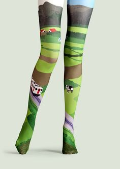 viken plan creative designer brand pantyhose stockings socks stockings Wilderness pattern number - Taobao global Station