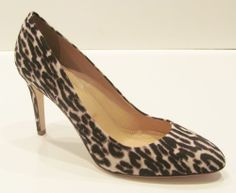 J Crew Sloane Leopard Print Pumps Heels Shoes Black White 7