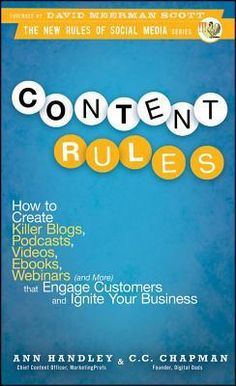 Content Rules by Ann Handley and C. C. Chapman reviewed by Eliabeth