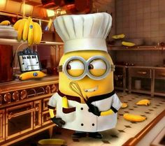 minion...hmmm...maybe just a little more practice flipping pancakes! :)