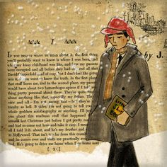 Looks like a lonely teen? It's an illustration in the book Catcher in the Rye, JD Salinger, illustrated by Carmela Alvarado