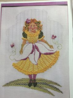 needlepoint canvas    Just Libby    Daffadil Maiden    #JustLibby