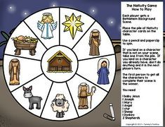 Christmas Nativity Game and Craft Activity Freebie Christmas Skits, Christmas Games For Kids, Christmas Nativity Scene, A Christmas Story, Nativity Scenes, Preschool Christmas Activities, Craft Activities, Toddler Bible Crafts, Idees Cate