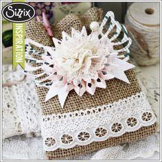 Sizzix Inspiration | Floral Burlap Gift Bag Melissa Phillips