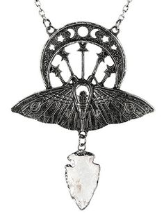 Click to zoom Gothic, Silver Pendants, Silver Necklaces, Moon Moth, Moth Wings, Steampunk Gears, Quartz Jewelry, Owl Necklace, Clear Quartz