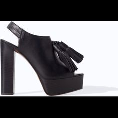LOOKING For Zara Black Tassel Heel Bootie I'm looking for this zara heel ,I use 6.5.pls let me know if u are willing to sell Zara Shoes