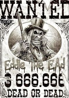 'Eddie' Iron Maiden, 666 the number of the beast Heavy Metal Bands, Heavy Metal Music, Bruce Dickinson, Woodstock, Rock N Roll, Iron Maiden Mascot, Iron Maiden Posters, Eddie The Head, Rock Y Metal