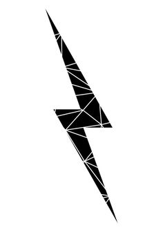 Geometric Lightening Bolt - Wall Art - Geometric Print - Art Prints - Black and White - Inspirational Prints - Lightening Bolt - Nursery