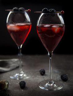 Blackberry Aperol Spritz Cocktail