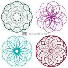 Download free Vector Colorful Circle Decorative Design Elements Set-5. Free Vector from www.123FreeVectors.com. More Free Vector Graphics, www.123freevectors.com